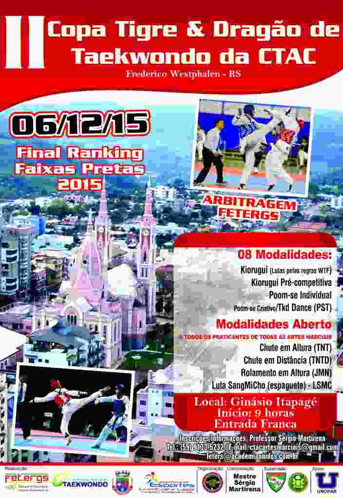 Cartaz 2.ª Copa Tigre & Dragão de Taekwondo da CTAC