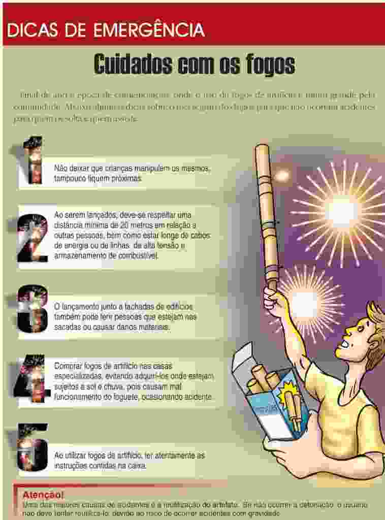 cuidados com fogos de artificio