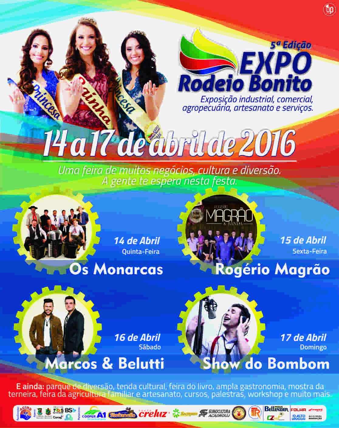 Programação Expo Rodeio Bonito 2016 02