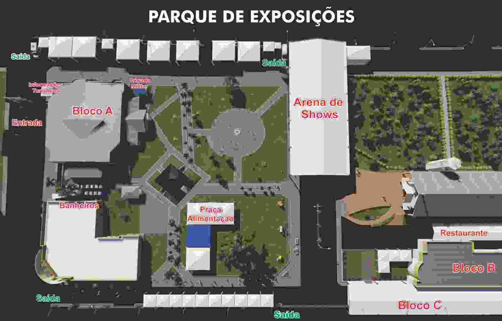 mapa parque expo